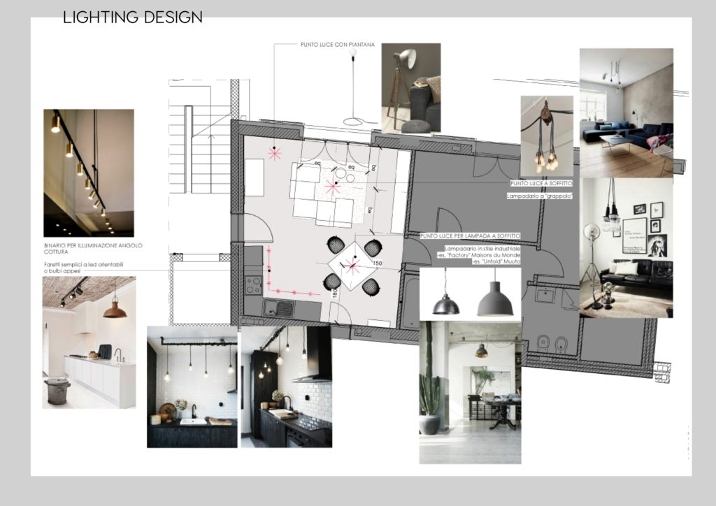 living room design, living milano, living e design, living moodboard, er interior design, progettazione interni online, lighting plan