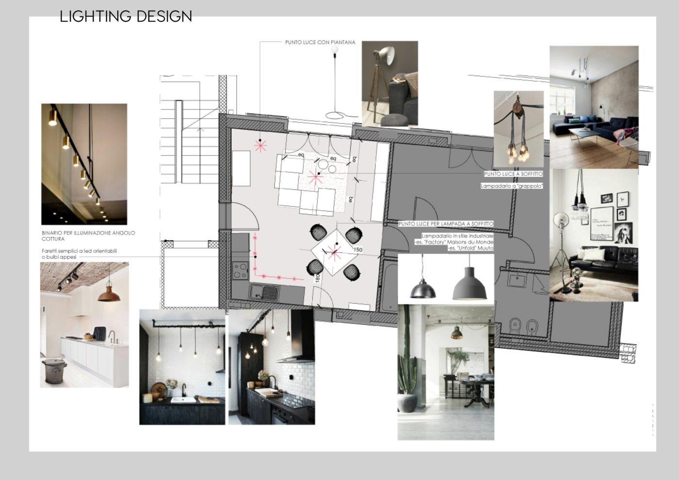 living room design, living milano, living e design, living moodboard, er interior design, progettazione interni online, lighting plan