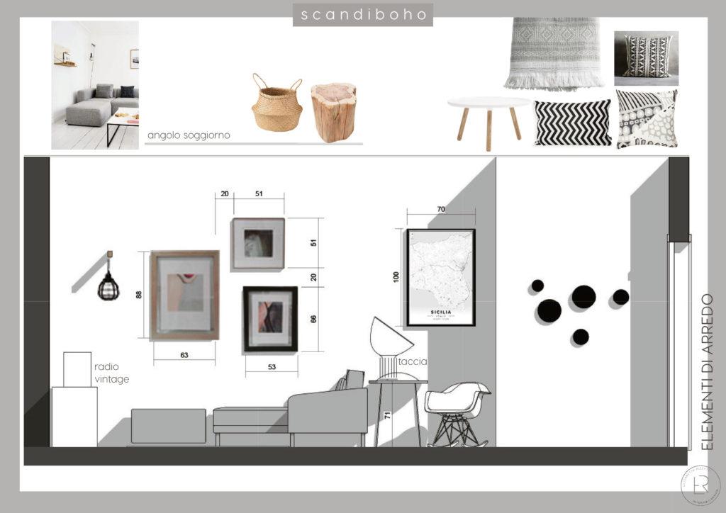 Restyling soggiorno stile scandinavo progettazione online for Progettazione on line